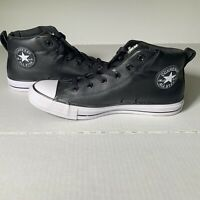 Converse Chuck Taylor All Star Street Mid Top Black Leather 143727C Shoes Mens 8