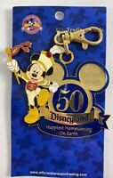 Disney DLR Disneyland Pin Lanyard Trading Medal Fifty 50 Years Mickey Mouse