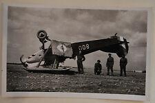 carte postale aviation Potez 25 inversé à l'atterrissage ISTRES Aviation #04