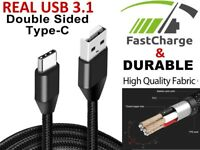 Type-C USB-C 2 Male Data Sync FAST Charger Charging Cable Samsung Galaxy S20 S10