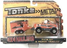 Tonka Metal Diecast Bodies 4X4 Haulers Pick Up & Horse Trailer 1:55 Scale New