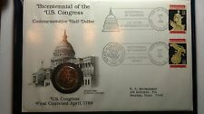 BICENTENNIAL US CONGRESS COMMEMORATIVE HALF DOLLAR, coin, stamp