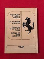 Organisation de vente et de service Ferrari 1978
