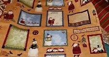 WINTERTIME FRIENDS 1 Yard FABRIC Quilting SSI Teresa Kogut SNOWMEN Birds SANTA