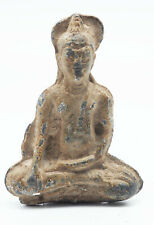 Excellent Ancient Sukhothai Bronze Figure of Buddha in maravijaya circa 14 #A83