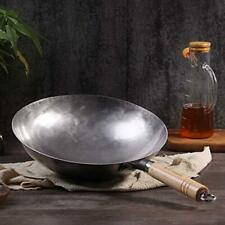 Hand Forged Iron Wok, Profession Chinese Traditional Wok Pan Household Kitchen
