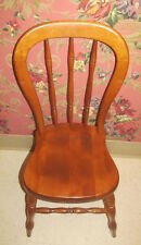 Tell City Farmhouse Hard Rock Andover Maple Petite Chair Cosmetic Wear USA Made