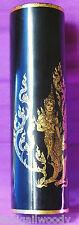 Vase bambou lisse laqué noir THAÏLANDE 32cm Kinnara Kinnon vase lacquered bamboo