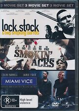 Lock Stock And Two Smoing Barrels Smoin' Aces Miami Vice 3-movie DVD NEW R4