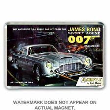 RETRO AIRFIX KIT BOX ART JAMES BOND ASTON MARTIN JUMBO FRIDGE / LOCKER MAGNET