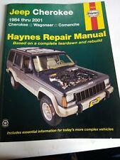 1984-2001 Jeep Cherokee Wagoneer Comanche Haynes Repair Service Manual 50010