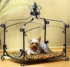 Cats or Dogs ** ROYAL SPLENDOR PET BED * Animal Print Velved & Royal Crown * NIB