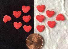 Hearts Red Satin tiny Valentine wedding Heart Card embellishment Invitations