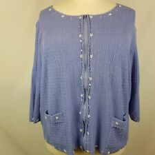 JL STUDIO 4X Purple Zipper Front Cardigan Sweater Pockets Long Sleeve Plus Size