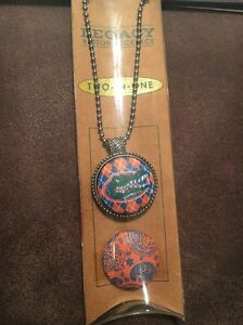 Legacy Button Necklace Two-In-One University of Florida Gators