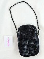 Forever 21 Black Metallic Handbag Clutch Zip Closer Purse