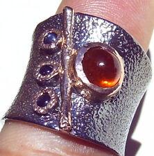 CeS Bandring / Ring mit Hessonit Granat und Saphir