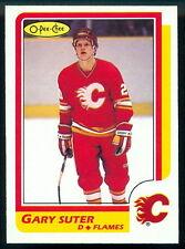1986 87 OPC O PEE CHEE HOCKEY #189 GARY SUTER NM CALGARY FLAMES RC ROOKIE CARD
