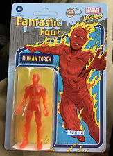 Kenner Hasbro Marvel Legends Retro 3.75 Human Torch  Brand NEW MOC UNPUNCHED
