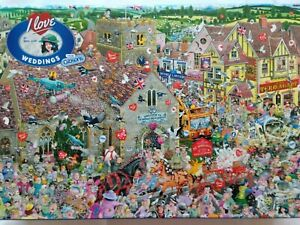 Brand New Gibsons 1000 Piece Jigsaw Puzzle - I LOVE WEDDINGS, BY MIKE JUPP