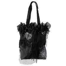 "Halloween Handtasche ""hexe"" schwarz Fasching Spinnen"