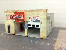 "N Scale Building - ""Midtown Garage"" Card Stock Kit (Paper Kit)"