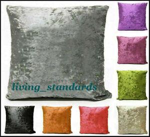 """New Cushion Cover Crushed Velvet Luxury Soft Scatter Glitter Stripes Sparkle 18"""""""
