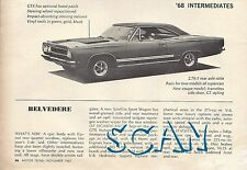 1968 Plymouth Belvedere Magazine Article Ad 68 GTX 440 426 Hemi Magnum 500