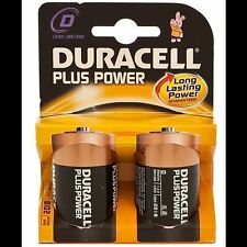 4 x Duracell D Size Plus Power Alkaline Batteries (LR20, MN1300, MX1300, Mono)