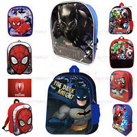 NEW Boys Girls Kids Backpack Junior Toddlers Character Rucksack School Lunch Bag