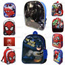 NEW Boys Girls Kids Backpack Junior Toddlers Character Rucksack School Lunch Bag