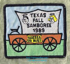 LMH Patch  1989 GOOD SAM CLUB  Fall SAMBOREE Rally  ODESSA TX Bust Wagon Covered