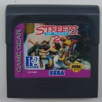 Sega Game Gear Streets Of Rage 2 Working Cartridge With Plastic Protective Case