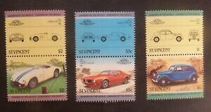 St Vincent 1985 Leaders world automobiles  Cars SG862/7 MNH UM unmounted mint