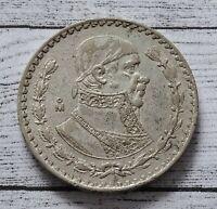 Mexico One Peso Coin~1962 Jose Morelas~.100 Silver 16g~KM#459~XFine~#1204