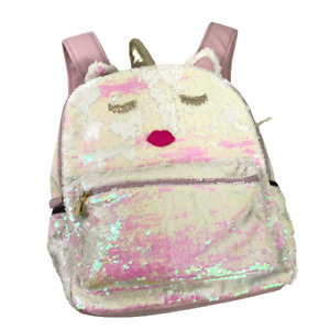Betsey Johnson Luv Backpack Unicorn Sequin Striped Lining Adjustable Straps