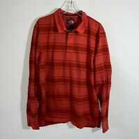 The North Face Flannel Shirt Men's 2XL Orange Plaid Heavy Cotton Long Sleeve