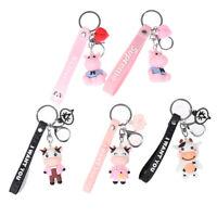 Cute Cow Doll Keychain Dairy Car Key Chain Girl Bag Pendant Accessories Keyring*