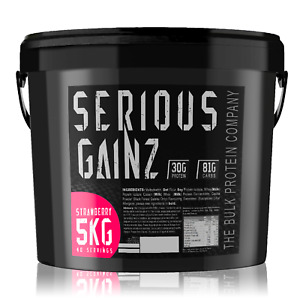 SERIOUS MASS GAINER - 5KG (or buy 2 for 10kg!) Make Mutant Gains Protein Powder