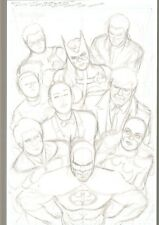 Batman Family Preliminary Art by Kevin Maguire JUSTICE LEAGUE #1 HOMAGE 11x17