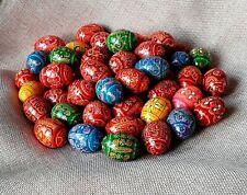 """5er Set Holz Ostereier handgemachte ukrainische Pysanky Pysanka Easter Eggs1,5"""""""