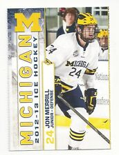 2012-13 Michigan Wolverines Jon Merrill (Vegas Golden Knights)