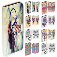 For HTC Series Mobile Phone - Dream Catcher Print Flip Case Wallet Phone Cover