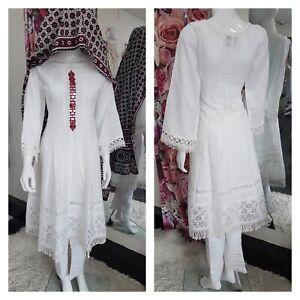 Ajrak mirror work frock ReadyMade Salwar pakistani shalwar kameez partywear