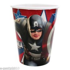 CAPTAIN AMERICA FIRST AVENGER 9oz PAPER CUPS (8) ~ Birthday Party Supplies Movie