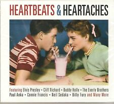 HEARTBEATS & HEARTACHES 50's ROCK N ROLL 2 CD BOXSET