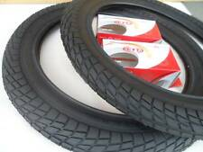 """New BMX Style Kids Bicycle Tires and Tubes 16 x 2.125 Fits 1.75 1.95 Black 16"""""""