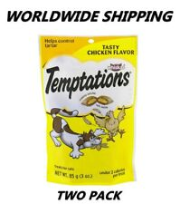 Temptations Cat Treats Tasty Chicken 3 Oz TWO PACK WORLDWIDE SHIPPING