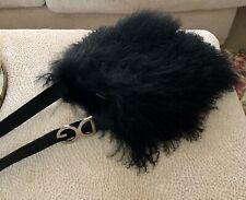 D&G ~  Black Tibetan Lamb Handbag Boho