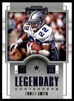 2017 PANINI LEGENDARY CONTENDERS EMMITT SMITH DALLAS COWBOYS #LC-3 INSERT